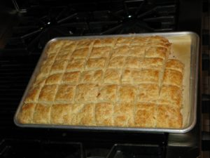The biscuits I baked for the fisherman's stew were flavored with dill and rosemary.