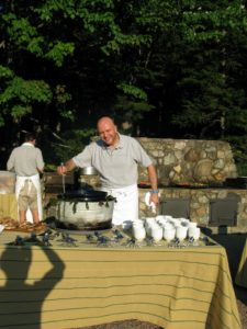 Pierre serving the fisherman's stew