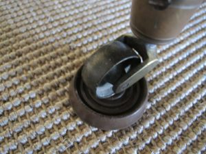It's always a good idea to use leg cups to protect your floor or carpet from indentations and discoloration.