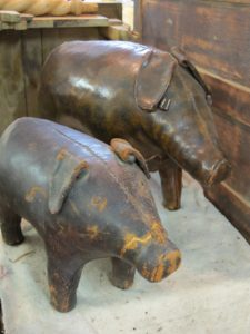 There were even leather pigs in for restoration!