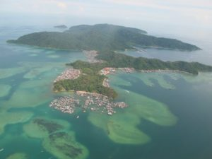 The islands surrounding Borneo are incredibly beautiful.