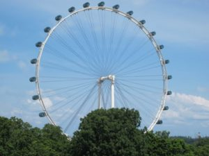 The airport was about a 25-minute drive to Capella Resort on Sentosa Island.  Enroute, we passed by the Singapore Flyer, the world's largest observation wheel, offering breathtaking, panoramic views of the Marina Bay, the city, and beyond.