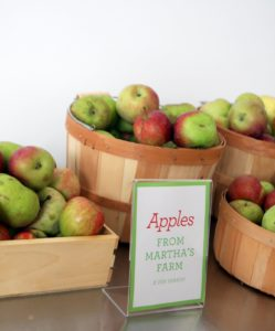 I donated lots of fresh-picked apples from my farm.  People loved them!