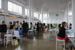As usual, the clerestory provided a wonderful and bright space for the Wellness Expo.  A steady stream of employees came through between 10AM and 2PM.