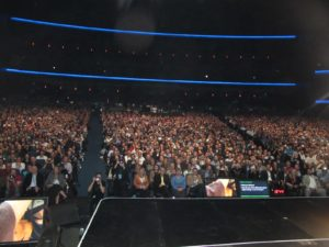 The Nokia Theater was packed.