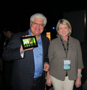 Mike Lazaridis - President and Co-Chief Executive Officer Research In Motion of RIM BlackBerry showing off a new prototype