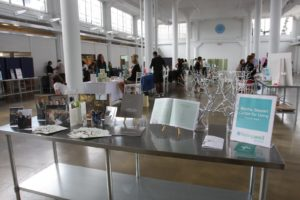 Martha Stewart Center for Living at Mount Sinai had a display of its accomplishments.