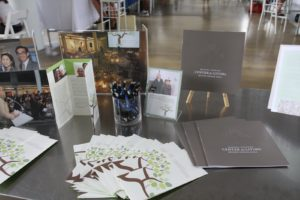 There were photographs and brochures from our galas.