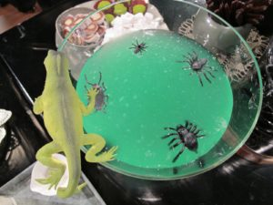 A closeup of the slime