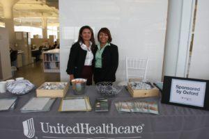 Oxford sponsored the flu shots and screenings. - representatives Yolanda and Anastasia