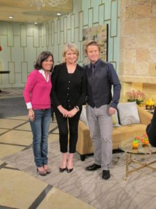 With co-hosts of Access Hollywood - Kit Hoover and Billy Bush