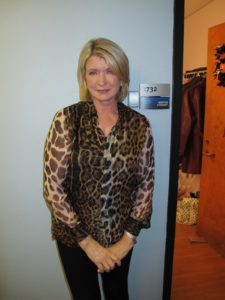 4:00pm - Dressed in my Halloween attire - an Yves Saint Laurent Leopard Blouse for the taping of The Tonight Show with Jay Leno.  I also had my yellow contact lenses on.