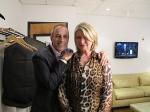 Saying hello to my good friend, Matt Lauer, who was also on the show.