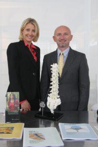 Dr. Agnieszka Golian and Stelian Serban, MD from the Mount Sinai School of Medicine
