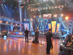 At 5:15pm, we were whisked off to the set of Dancing With The Stars, where we had VIP seating.