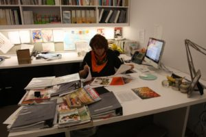 This is Ruth in her office.