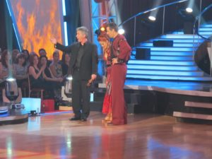Tom Bergeron - Host of Dancing With the Stars with contestants.