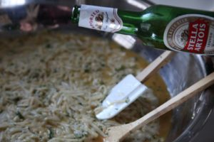 My secret ingredient for superior latkes, or potato pancakes, is beer and this year I used Stella Artois.