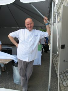 I'm always happy when my good friend, Chef Pierre Schaedelin comes to the farm and cooks.