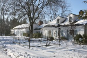 This charming house was repurposed for cooking lessons and seminars.  Inside, Lisa created a lovely country kitchen in which Lisa and talented local chefs teach classes.