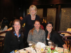 """Lunch at Morton's Steakhouse with Charter Communications' customer loyalty program """"Live It With Charter"""" - Here I am with Karen Nelson, Leslie Raybon, and Angela Cuomo."""