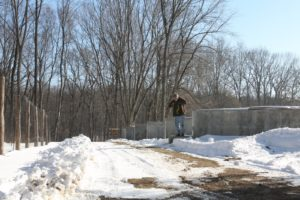 Last spring, Lisa explained that they were in the process of building a modern and efficient composting yard and here it is.  The gentleman is Kevin Ferris, the property manager.