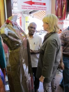 We stopped in a very nice clothing store.  The owners are from the Indian state of Tamil Nadu.