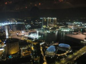 Later, we ate dinner at Jaan Par André, located on the 71th floor of the Swissôtel.  What an amazing view!  Do you recognize Marina Bay Sands?