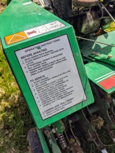 The instructions for use are placed near the handle of the machine facing the operator.
