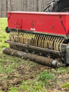 The AERA-Vator allows one to aerate and seed at the same time which increases the odds of germination.