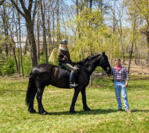 I checked in with Alan while out for a ride on Rinze, one of my handsome Friesians. I am looking forward to seeing how the fields look come summer.