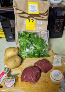 Cheryl's third meal was the Steak & Parmesan Potatoes with Spinach & Horseradish Cream - her favorite of the three. Everything is well-packaged and labeled, so there's absolutely no confusion in the kitchen. The kits are designed to feed two or four people. It's a superior, money-saving, time-saving meal-kit delivery system.