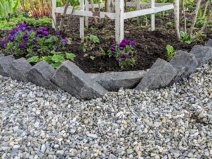 Here is the native washed stone at the center corners - everything is perfectly level and well-delineated.