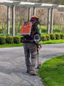 The STIHL backpack battery is designed with comfort in mind, including an ergonomic hip belt and chest strap that evenly distributes the weight.