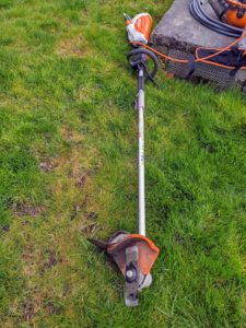Edgers are easy to use – just line up the edger blade on the turf side of the road, and turn it on. This edger is also very light - less than three pounds, with a wheel on one side for added maneuverability.