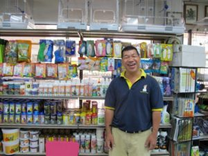 The owner proudly showed us the inside of the shop - so many wonderful products!