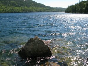 It was a magnificent day for a hike around Jordan pond.  The remnants of hurricane Earl were long gone.