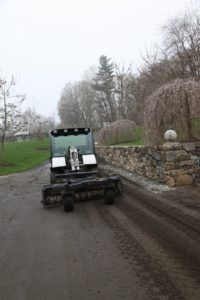 This machine belongs to Bruce Corbett Excavating, who has been repairing the carriage roads.