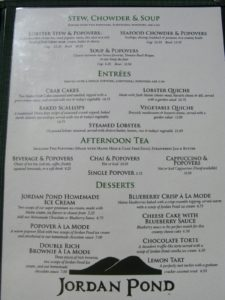 Obviously, popovers, their claim to fame, are prominent on their menu.