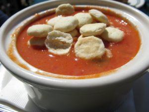The tomato-basil bisque