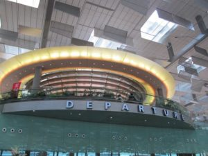 The Singapore Changi Airport is stunning.  This is the entrance for departures.