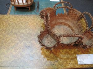 This is an unusual sewing basket, attribute to Pasamaquady Indians - circa 1910.