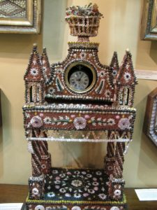 An exceptional shell-work watch stand circa 1820 - priced at $15,000
