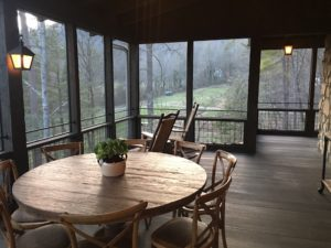 We also had our own screened-in porch.