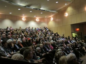 I spoke to a full audience in the auditorium at the Wilmington's Chase Center on the Riverfront.