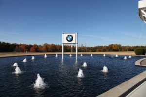 Approaching the BMW Visitor Center
