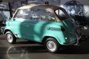 The Isetta was a simple but reliable car that supported the economic recovery in postwar Europe.  This model has a back seat.