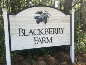 Blackberry Farm is located on a 4,200 acre estate in the foothills of the Great Smoky Mountains in Walland, Tennessee, and includes more than 60-luxury and cottage style rooms. http://www.blackberryfarm.com