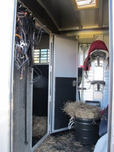 This is the tack room in my horse trailer.