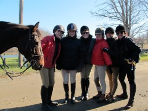 Linda, me, Janice, Muffin, Mary, and Jodi posing before our ride